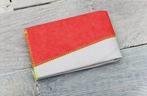Portemonnaie (Big) - Grau/Rot (reißfestes Tyvek®) - paprcuts