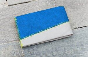 Portemonnaie (Big) - Grau/Blau (reißfestes Tyvek®) - paprcuts