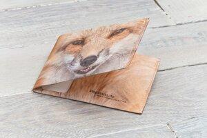 Portemonnaie (Big) - Der Fuchs (reißfestes Tyvek) - paprcuts