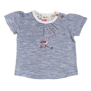 Mädchen T-Shirt blau melange biologisch People Wear Organic - People Wear Organic