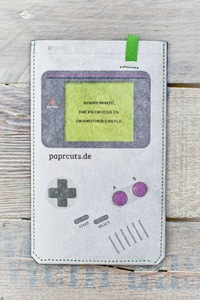 Smartphone Cover (Big) - Game, Boy! (aus reißfestem Tyvek®) - paprcuts