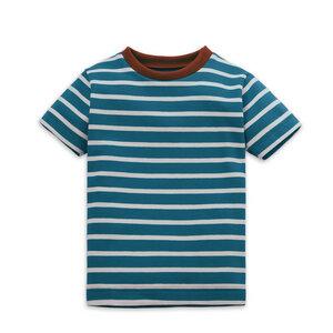 Gestreiftes Kinder T-Shirt Petrol - internaht