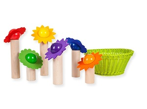 Blüten-Balancierspiel aus Holz auch für die Kinderkrippe geeignet - Sina Spielzeug