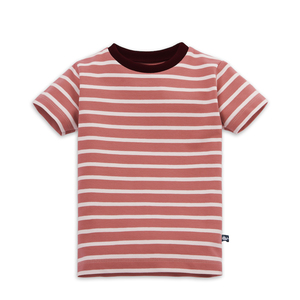 Gestreiftes Kinder T-Shirt Rosenholz - internaht