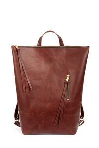 Rucksack FRED aus wunderschönem rotbraunem Leder - ELEKTROPULLI