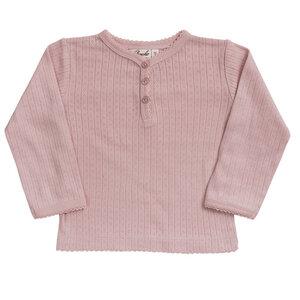 Mädchen Langarm Henley Shirt reine Bio-Baumwolle - People Wear Organic