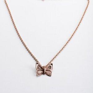Vintage Unikat: Kette Schmetterling, Roségold - MishMish by WearPositive