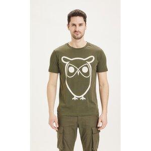 T-Shirt ALDER Basic Tee mit Eulenprint - KnowledgeCotton Apparel