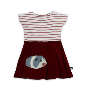 T-Shirt Kleid mit Meerschweinchen-Applikation für Mädchen - internaht