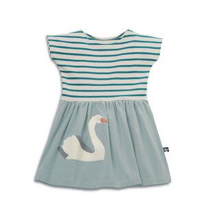 T-Shirt Kleid mit Schwan für Mädchen - internaht