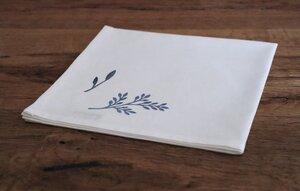"""Stoffserviette und Stofftasche """"Blaue Wildblumen"""" handbedruckt - luscinia"""