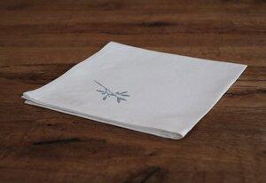 """Stoffserviette und Stofftasche """"Zarte Blume"""" handbedruckt - luscinia"""