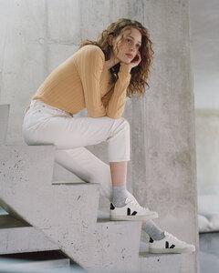 Sneaker Damen - Campo Chromefree Leather - White Black - Veja