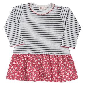 Mädchen LA Kleid weiß geringelt Bio People Wear Organic - People Wear Organic