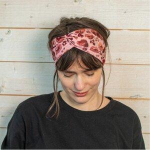 Veganes denkefair Stirnband Poppies JERSEY - denkefair