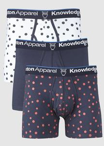Underwear 3pack Dot Print Total Eclipse - KnowledgeCotton Apparel