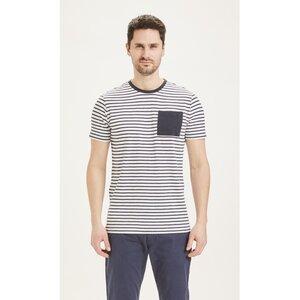 T-Shirt mit Brusttasche - ALDER slub striped tee - KnowledgeCotton Apparel