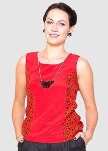 Milano Top Red/Patterned Red - Globe Hope