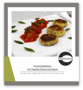 Gewürzbox Zucchinibällchen mit Paprika-Chermoula-Sauce - RezeptGewürze