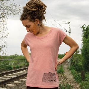 Reisekoffer T-Shirt für Damen in canyon pink - Cmig