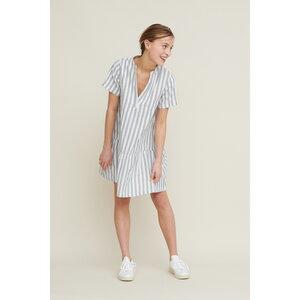 Kleid Kicki mit Streifen aus Bio-Baumwolle - Basic Apparel