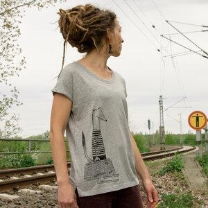 Reisewiesel T-Shirt für Damen in grau meliert - Cmig