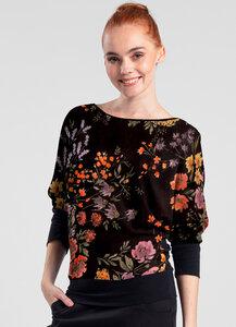 Langarmshirt mit Blumenmuster - Lasalina - LASALINA