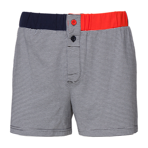 ThokkThokk Stripes TT31 Button Boxershort Black/White - THOKKTHOKK