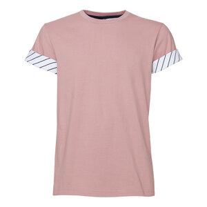 ThokkThokk Rolled Sleeves T-Shirt Rosewood - THOKKTHOKK