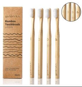 Bambus - Zahnbürsten, 4er Pack - Goldrick