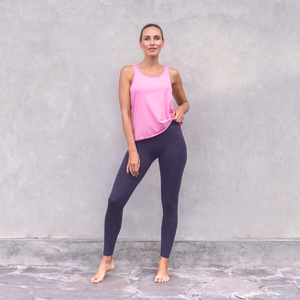 LONDON LUREX - Damen - High Waist Leggings für Yoga und Freizeit aus Biobaumwolle mit Lurexfäden - Jaya