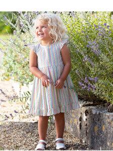 Baby und Kleinkinder Seersucker Rüschenkleid reine Bio-Baumwolle - Kite Clothing