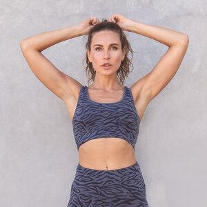 GLORIA ZEBRA - Damen - Bra für Yoga aus Biobaumwolle - Jaya