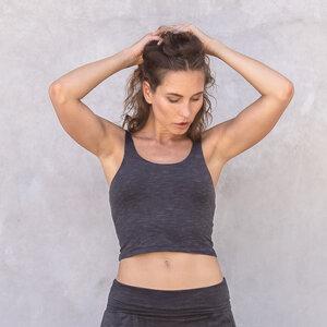 RIA MELANGE - Damen - Croptop für Yoga aus Biobaumwolle - Jaya