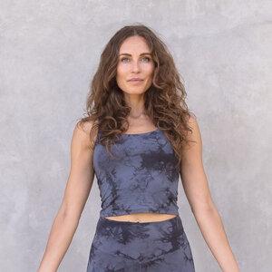RIA TIE-DYE - Damen - Croptop für Yoga aus Biobaumwolle - Jaya