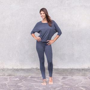 ALIKI DOTS - Damen - Jacquard-Jersey Leggings für Yoga und Freizeit aus Biobaumwolle - Jaya