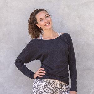 YANTI MELANGE - Damen - Longsleeve für Yoga und Freizeit aus Biobaumwolle  - Jaya