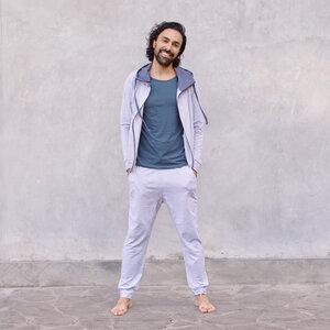LEON MELANGE - Männer - Hoodie für Yoga und Freizeit aus Biobaumwolle - Jaya