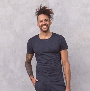 ROCKY MELANGE - Männer - körpernahes T-Shirt für Yoga aus Biobaumwolle - Jaya