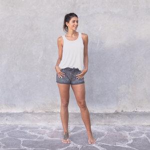 ALASKA TENCEL - Damen - lockeres Top mit offenem Rücken für Yoga aus einem Tencel-Baumwoll-Mix - Jaya