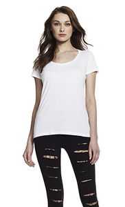 Women's Bamboo Twisted Neckline T-Shirt - Continental Clothing