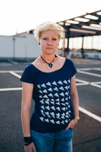 Paperplane T-Shirt Bio Baumwolle & Fair Trade NAVY - ilovemixtapes