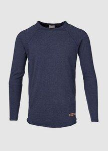 Light Melange Sweatshirt Total Eclipse - KnowledgeCotton Apparel