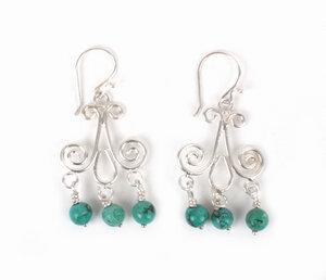 Ohrringe aus 925er Silber Farbe: Türkis - El Puente