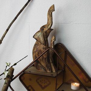 Elefanten-Duo aus Holz geschnitzt - Mitienda Shop
