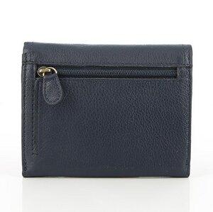 Geldbörse aus Leder blau Jamie - Mitienda Shop