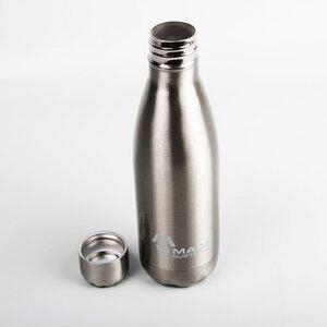 Trinkflasche aus Edelstahl silber - Made Sustained