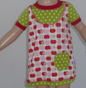 Shirtkleid 'an apple a day' rot - Omilich