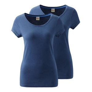 2er Pack Yoga Shirt blau - People Wear Organic