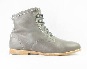 desert high / graues glattleder / ledersohle - ekn footwear